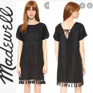 MADEWELL Linen Embroidered Tassel Ter Dress